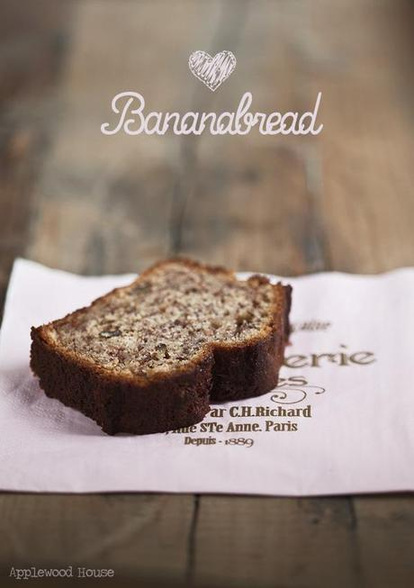 Banana Bread Bananen Brot Kuchen Applewood House backen