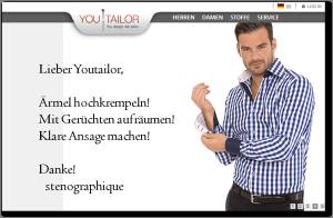 Neues von Youtailor: Der Insolvenzverwalter schreibt, stenographique antwortet