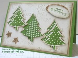weihnachtskarte tannenb ume gestempelt und gestanzt. Black Bedroom Furniture Sets. Home Design Ideas