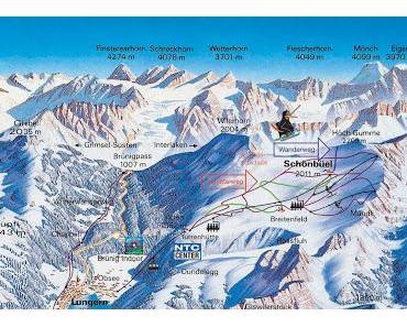 Ein Skigebiet gibt auf
