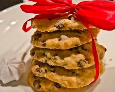 Quickie-Kekse: American Christmas Cookies – mit Schokotropfen und Walnüssen