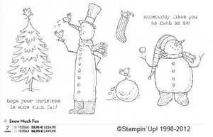 Schneemann-Karten mit Stempelset Snow much fun