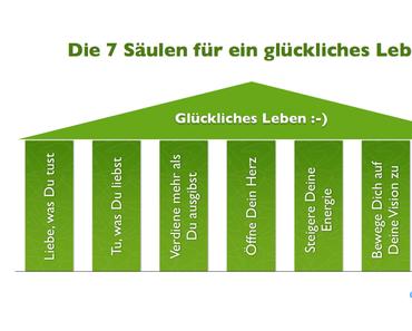 7 Säulen für ein glückliches Leben :-)