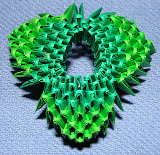 3d origami weihnachtsbaum - Origami weihnachtsbaum falten ...