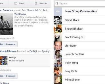 Neue Android Facebook App erschienen