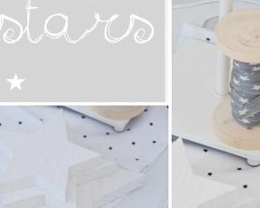 Beistelltisch mit Sternen-  little table wih stars