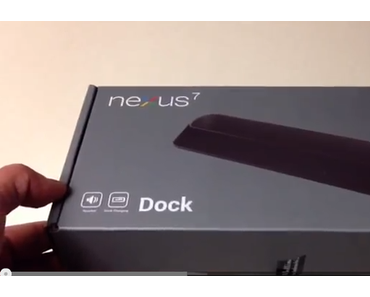 Nexus 7: Original Docking-Station im Video