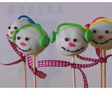 17. Dezember: Snowman Cake Pop- Variante 2