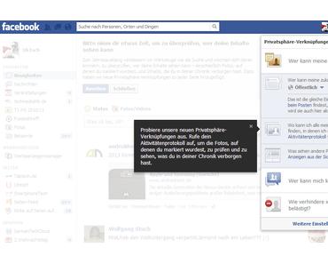 Facebook: Privatsphäre-Einstellungen jetzt leichter zu erreichen