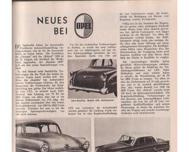 Neues bei Opel