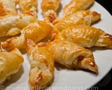 Mini-Croissants Räucherlachs mit Frischkäse – zum Sekt