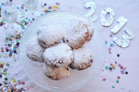 "sweet new year´s customs: a kind of donut called ""berliner"", ""pfannkuchen"" or ""krapfen"""