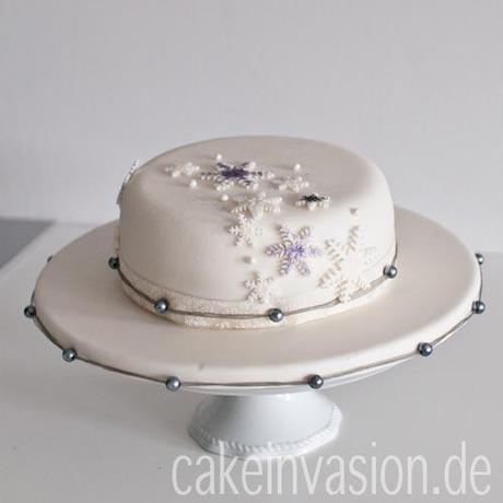 schneeflocken torte. Black Bedroom Furniture Sets. Home Design Ideas