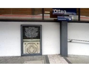 Nullstein im Bahnhof Olten