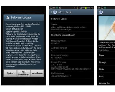 Samsung Galaxy Note 2: Update auf Android 4.1.2 wird in Deutschland verteilt