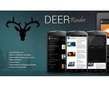 Deer Reader – Der stylische Google Reader für Android
