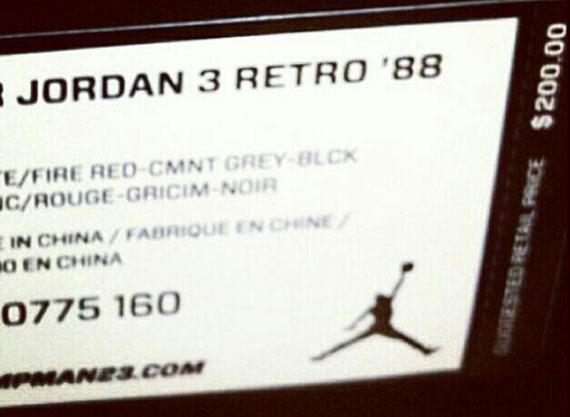 Air Jordan III Retro '88 – Retail-Preis