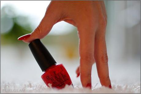 OPI Nagellack - rot - Color so hot it berns