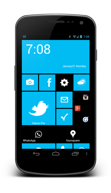 Launcher 8: Windows Phone 8 Homescreen für Android