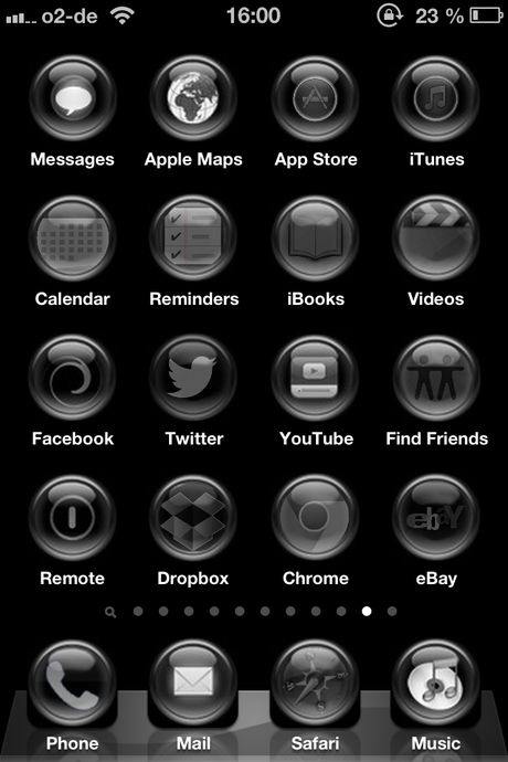 Black Orbs iPhone Theme