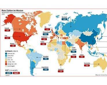 Zum heutigen GE20-Treffen: Positive und Negative Handelsbilanzen weltweit - Ein Überblick