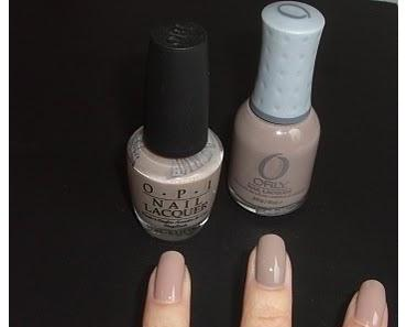 Orly Country Club Khaki vs. OPI Tickle My France-y