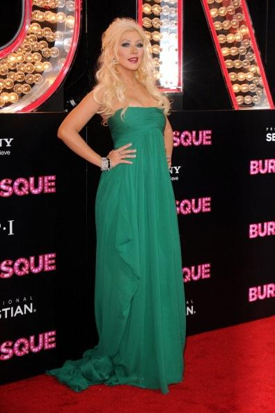 LOS ANGELES, CA - NOVEMBER 15: Actress/singer Christina Aguilera arrives at the premiere of Screen Gems' 'Burlesque' at Grauman's Chinese Theater on November 15, 2010 in Los Angeles, California. (Photo by Jason Merritt/Getty Images)