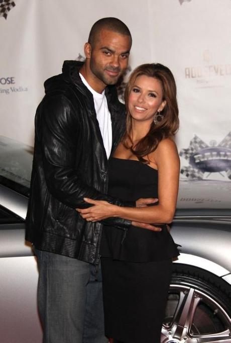 Eva Longoria Parker & Tony Parker arrives for the Rally For Kids with Cancer at the Roosevelt Hotel. © Red Carpet Pictures