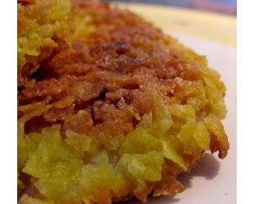 Steckrübenschnitzel mit Cornflakes-Panade