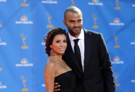 Actress Eva Longoria, from the drama series Desperate Housewives , and husband Tony Parker arrive at the 62nd annual Primetime Emmy Awards in Los Angeles, California, in this August 29, 2010 file photo. Longoria filed for divorce on November 17, 2010, to end her three-year marriage to basketball player Tony Parker. Longoria, 35, filed documents in Los Angeles Superior Court citing irreconcilable differences. REUTERS/Mario Anzuoni/Files  (UNITED STATES - Tags: ENTERTAINMENT SPORT BASKETBALL) (EMMYS/ARRIVALS)