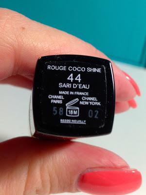 CHANEL Rouge Coco Shine 44 Sari D´Eau