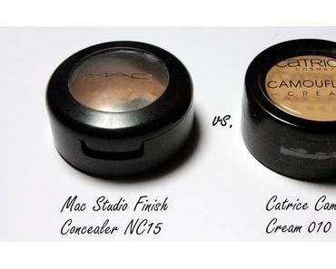 Catrice Camouflage Cream vs. Mac Studio Finish Concealer