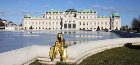 Impressions of vienna, public contemporary art tour of the mysical guardians of time sculpture by Manfred Kielnhofer Kili