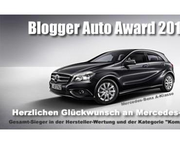 Gewinner des Blogger Auto Award 2013