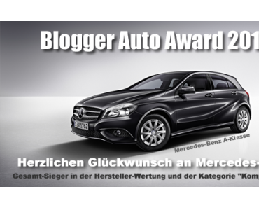 Blogger Auto Award 2013 steht fest