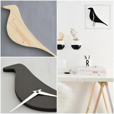 nachmachtipp eames bird clock. Black Bedroom Furniture Sets. Home Design Ideas