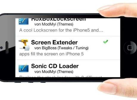 ScreenExtender iphone5 Apps an iPhone 5 Display automatisch anpassen   ScreenExtender  jailbreak iphone 5  ScreenExtender iPhone 5 iPhone display anpassen 4 Zoll