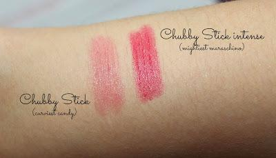Clinique Chubby Sticks intense - Swatches