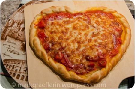 Pizzaherz zum Valentinstag