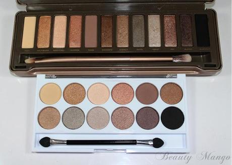 [Dupevergleich] Urban Decay Naked Palette 2 vs. MUA Undress me to