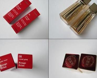 Clarins Rouge Eclat Lippenstifte Review/Swatches/Tragebilder