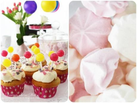 Luftballon-Cupcakes zum Kindergeburtstag :: Balloon Cupcakes for my daughters birthday party + Wordless/Wordful Wednesday