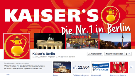 Kaiser in Berlin auf Facebook