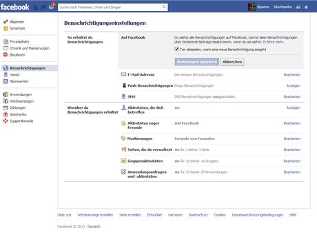 Facebook Benachrichtigungston