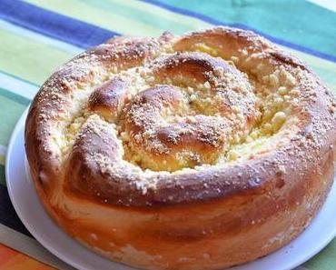 Pudding Streusel Schnecke XXL