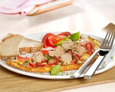Weight Watchers-Rezept: Mediterranes Thunfisch-omelette