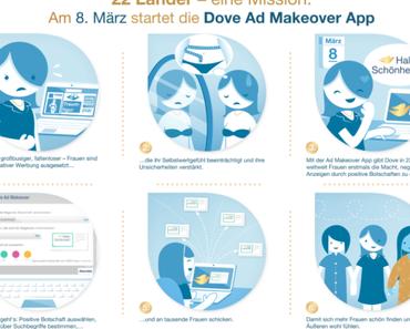 """Dich nervt die Werbung auf Facebook? Du hast heute die Macht das zu ändern mit der Dove """"Ad makeover"""" App!"""