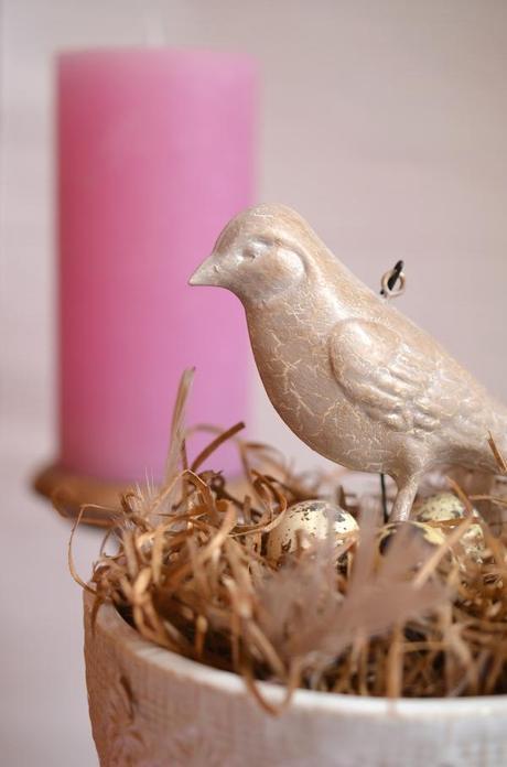 Vogelnest in der vase schnelle deko idee f r den fr hling diy - Deko fur fruhling ...