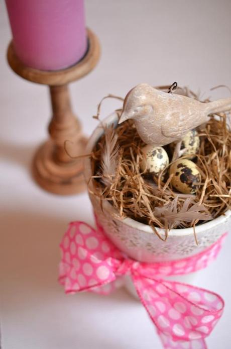 Vogelnest in der vase schnelle deko idee f r den fr hling - Diy deko fruhling ...