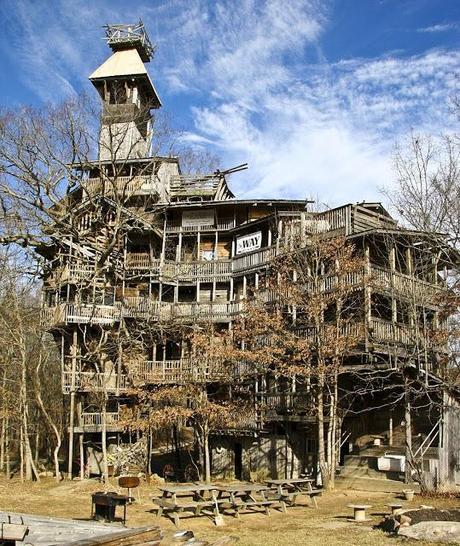 Gab Den Auftrag Für Das Grösste Baumhaus Der Welt Wendeltreppe Um Einen Baum Baumahus